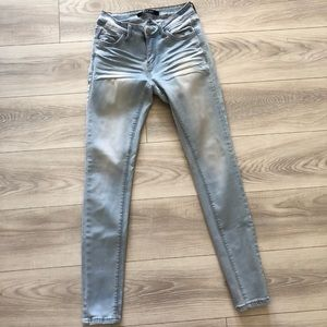Light wash Wax jeans Mid Rise